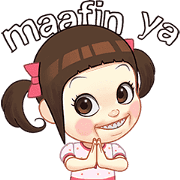 Neneng Gesrek Ramadan Special: Alim Girl Sticker for LINE & WhatsApp | ZIP: GIF & PNG