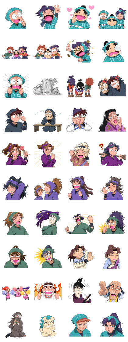 Nintama Rantarō Line Sticker GIF & PNG Pack: Animated & Transparent No Background | WhatsApp Sticker
