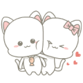 Njun & Njel: Cat Couple Sticker for LINE & WhatsApp | ZIP: GIF & PNG