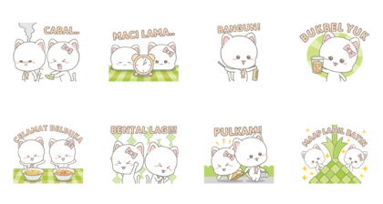 Njun & Njel: Special Maap Lahil Batin Line Sticker GIF & PNG Pack: Animated & Transparent No Background | WhatsApp Sticker