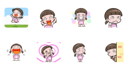 NomYen Animated Stickers Line Sticker GIF & PNG Pack: Animated & Transparent No Background | WhatsApp Sticker