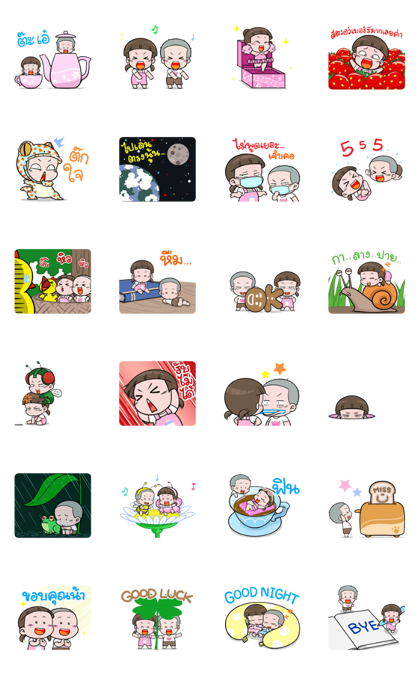 NomYen & HuaKrien's Mini Story Line Sticker GIF & PNG Pack: Animated & Transparent No Background | WhatsApp Sticker