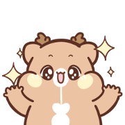Nonsense of Sweet House Little Deer Sticker for LINE & WhatsApp | ZIP: GIF & PNG