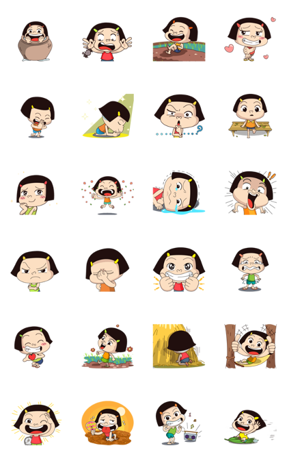 Noo-Hin: Noune Hin Hae 2 Line Sticker GIF & PNG Pack: Animated & Transparent No Background | WhatsApp Sticker