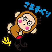 OSARUNOMONKICHI: Animated Stickers Sticker for LINE & WhatsApp | ZIP: GIF & PNG