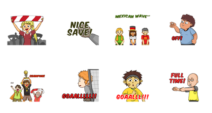 Ole Ole Bola Line Sticker GIF & PNG Pack: Animated & Transparent No Background | WhatsApp Sticker