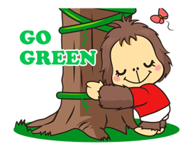 OrangUtan Special - WWF Indonesia Sticker for LINE & WhatsApp | ZIP: GIF & PNG