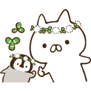 Penguin and Cat Days (Springtime Fun) Sticker for LINE & WhatsApp | ZIP: GIF & PNG