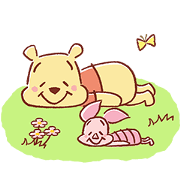 Pooh and Piglet (Lovely) Sticker for LINE & WhatsApp | ZIP: GIF & PNG