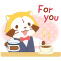 Rascal's Tea Time Stickers Sticker for LINE & WhatsApp | ZIP: GIF & PNG