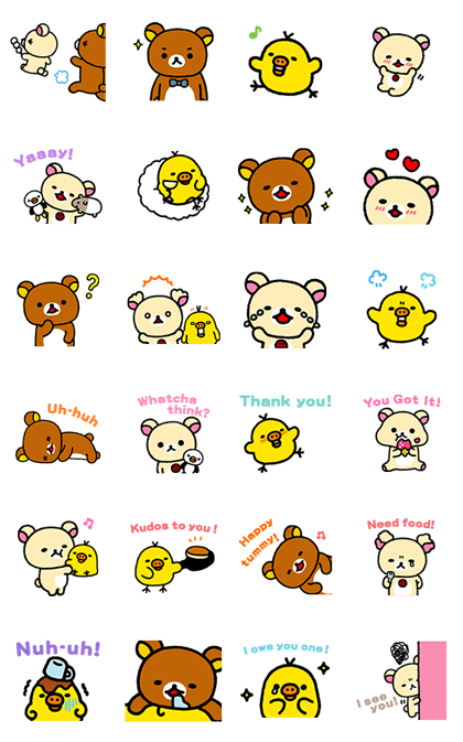 Rilakkuma ~Easy Days~ Line Sticker GIF & PNG Pack: Animated & Transparent No Background | WhatsApp Sticker