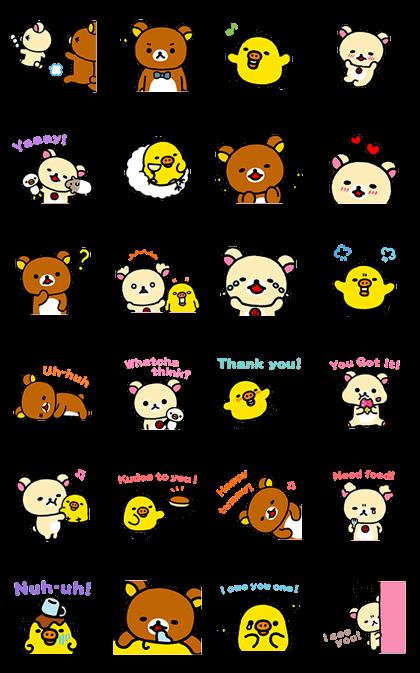 Rilakkuma ~Easy Days~ Line Sticker GIF & PNG Pack: Animated & Transparent No Background | WhatsApp Sticker
