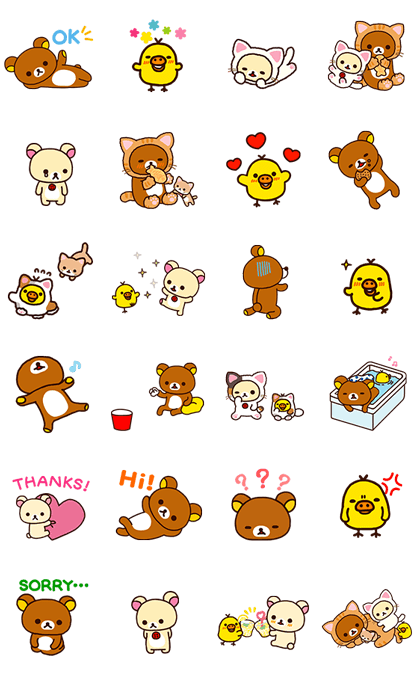 Rilakkuma Animated Stickers Line Sticker GIF & PNG Pack: Animated & Transparent No Background | WhatsApp Sticker