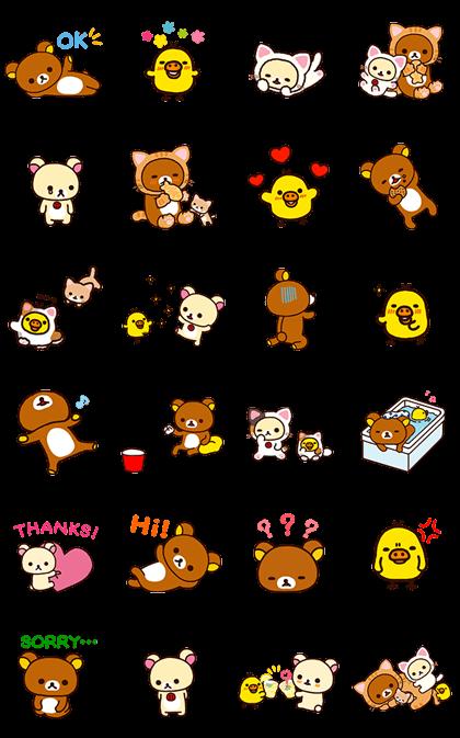 Rilakkuma Animated Stickers Line Sticker GIF & PNG Pack: Animated & Transparent No Background | WhatsApp Sticker