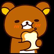 Rilakkuma: Freshly Baked Fun Sticker for LINE & WhatsApp | ZIP: GIF & PNG