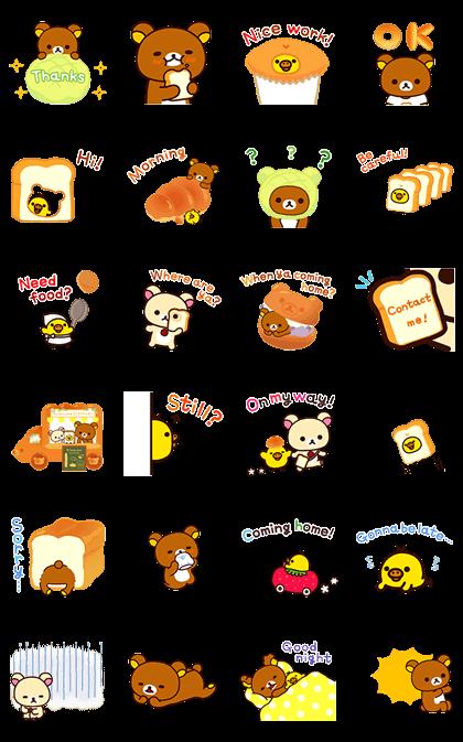 Rilakkuma: Freshly Baked Fun Line Sticker GIF & PNG Pack: Animated & Transparent No Background   WhatsApp Sticker