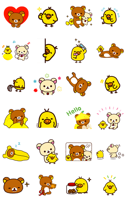 Rilakkuma & Kiiroitori Line Sticker GIF & PNG Pack: Animated & Transparent No Background | WhatsApp Sticker