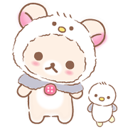 Rilakkuma: Korilakkuma's Vacation Sticker for LINE & WhatsApp | ZIP: GIF & PNG