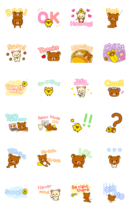 Rilakkuma: Large and in Charge Line Sticker GIF & PNG Pack: Animated & Transparent No Background | WhatsApp Sticker