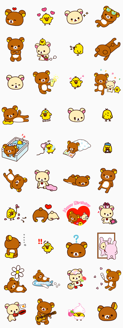 Rilakkuma Part 2 Line Sticker GIF & PNG Pack: Animated & Transparent No Background | WhatsApp Sticker
