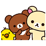 Rilakkuma: Pop-Up Chairoikoguma Sticker for LINE & WhatsApp | ZIP: GIF & PNG