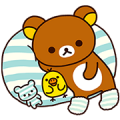 Rilakkuma: Relaxing Days Sticker for LINE & WhatsApp | ZIP: GIF & PNG