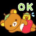 Rilakkuma: Strawberry Sweetness Sticker for LINE & WhatsApp | ZIP: GIF & PNG