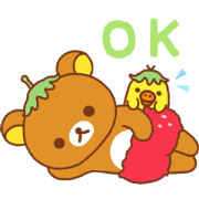 Rilakkuma: Strawberry Sweetness Sticker for LINE & WhatsApp | ZIP: GIF & PNG