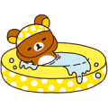 Rilakkuma Summer Sticker for LINE & WhatsApp | ZIP: GIF & PNG