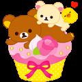 Rilakkuma Sweets Sticker for LINE & WhatsApp | ZIP: GIF & PNG