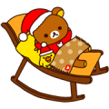 Rilakkuma Xmas & Holiday Sticker for LINE & WhatsApp | ZIP: GIF & PNG