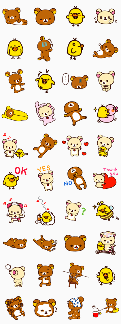 Rilakkuma Line Sticker GIF & PNG Pack: Animated & Transparent No Background | WhatsApp Sticker