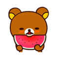Rilakkuma's Big Vacation Sticker for LINE & WhatsApp | ZIP: GIF & PNG