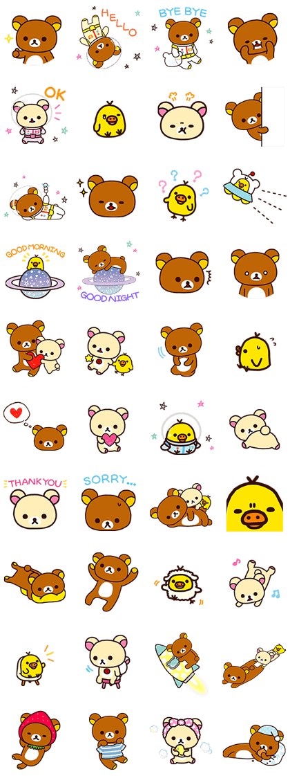 Rilakkuma's Lazy Life Line Sticker GIF & PNG Pack: Animated & Transparent No Background | WhatsApp Sticker