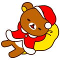 Rilakkuma's Xmas & New Year Sticker for LINE & WhatsApp | ZIP: GIF & PNG