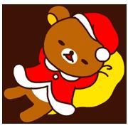 Rilakkuma's Xmas & New Year Sticker for LINE & WhatsApp   ZIP: GIF & PNG