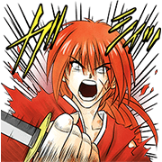Rurouni Kenshin Sticker for LINE & WhatsApp | ZIP: GIF & PNG