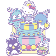 SANRIO CHARACTERS (Greetings) Sticker for LINE & WhatsApp | ZIP: GIF & PNG