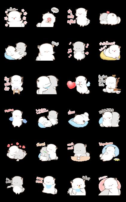 Simao and Bamao 3 Line Sticker GIF & PNG Pack: Animated & Transparent No Background | WhatsApp Sticker
