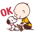 Snoopy (50's) Sticker for LINE & WhatsApp | ZIP: GIF & PNG