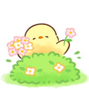 Soft and Cute Chick Pop-Up Stickers Sticker for LINE & WhatsApp | ZIP: GIF & PNG