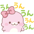 Super Cute Mamegoma Stickers Sticker for LINE & WhatsApp | ZIP: GIF & PNG