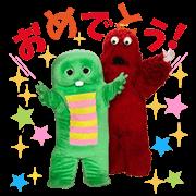 Talkative Gachapin & Mukku Sticker for LINE & WhatsApp | ZIP: GIF & PNG