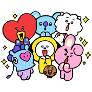 UNIVERSTAR BT21: Pint-Sized Cuteness Sticker for LINE & WhatsApp | ZIP: GIF & PNG