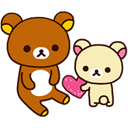Winter Rilakkuma Stickers Sticker for LINE & WhatsApp | ZIP: GIF & PNG