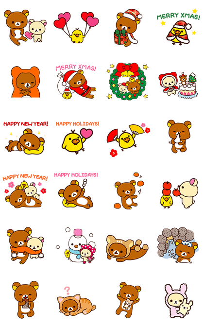 Winter Rilakkuma Stickers Line Sticker GIF & PNG Pack: Animated & Transparent No Background | WhatsApp Sticker