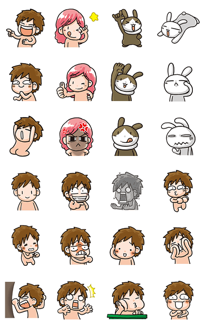 off60 Action! Line Sticker GIF & PNG Pack: Animated & Transparent No Background | WhatsApp Sticker