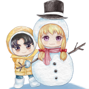 Annoying Doll Jinjin: Winter Holiday Sticker for LINE & WhatsApp | ZIP: GIF & PNG