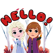 Frozen 2 × Boonshoes Sticker for LINE & WhatsApp | ZIP: GIF & PNG