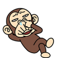Funny Monkey Sticker for LINE & WhatsApp | ZIP: GIF & PNG